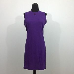Tommy Hilfiger Royal Purple Flag Logo Shift Dress